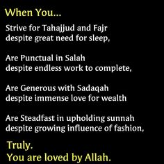 How can you be loved by Allah?