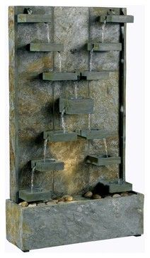 Kenroy 50375SL Watercross Transitional Indoor / Outdoor Floor Fountain transitional-outdoor-lighting