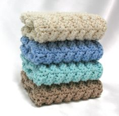Knit Dishcloth Cotton Knitted Dish Cloth by SticksNStonesGifts