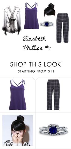 """""""Elizabeth Phillips Outfit 1"""" by lavenderessence ❤ liked on Polyvore featuring Beyond Yoga, Skin, BERRICLE, I.D. SARRIERI, Blue, story, OC and pajamas"""