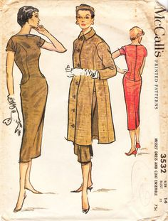 Vintage Misses Sheath or Wiggle Dress and by daisyepochvintage, $12.00