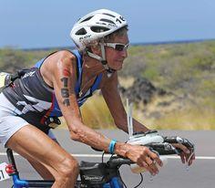 Sister Madonna Buder finishes the bike portion of the Ironman World Championship on Oct. 2014 in Kona, Hawaii. (Courtesy of IRONMAN) Triathalon, Kona Hawaii, Oct 11, Gray Matters, Nun, Fit Chicks, Madonna, Amazing Women, Iron Man