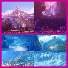Tangled / Frozen Crossover - Princess Rapunzel's kingdom, Corona, and her cousins, Queen Elsa's and Princess Anna's kingdom, Arendelle