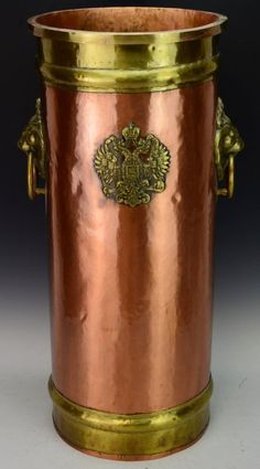 Russian Hammered Copper Umbrella Stand