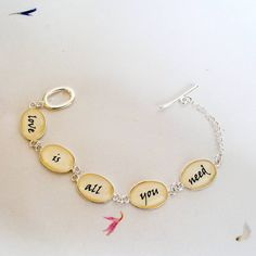 Personalised Message Bracelet Your Words