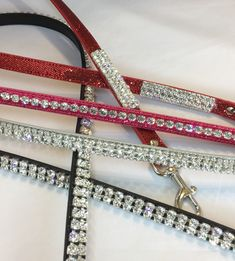 Lots O Bling – Crystal Rhinestone Dog Pet Lead Leash – 4' long – High Quality, Handmade in the USA.  Leash Accents: For accent leash (4″, 3 rows of crystals at top and then 4″, 3 rows at bottom of leash), choose V 1 For 1 long row of crystals, choose V 2 For 2 long rows of crystals, choose V 3 For 3 long rows of crystals, choose V 4  Leash Width Size: Small – 3/8″ Large – 5/8″  All leashes are 4 feet long. #dogs #dogleash
