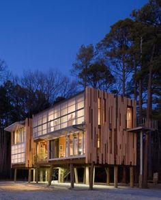 loblolly house - nature inspired facade