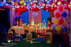 New Birthday Cake Baby Boy Themed Parties 40 Ideas Circus Party Decorations, Circus Theme Party, Carnival Birthday Parties, First Birthday Parties, Birthday Party Invitations, Birthday Party Themes, First Birthdays, Themed Parties, Kid Parties