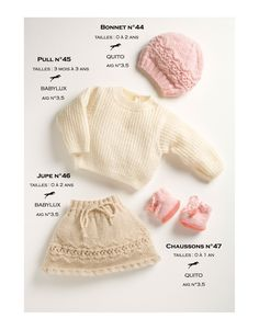 Model skirt cb13-46 - free knitting pattern - Cheval blanc . Baby skirt 3m to 2 yo . French and english . Many more beautiful ones in this shop , some free