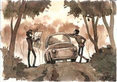 Lupin III watercolour by Masha-Ko