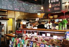 Deli counter in Olive and Gourmando by greenleaf goods, via Flickr