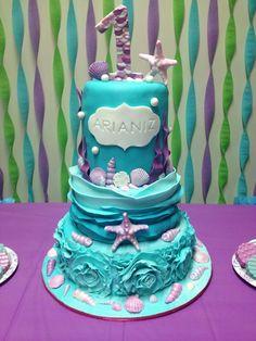 My version of Marinold Cakes gorgeous under the sea cake Ocean Cakes, Beach Cakes, Little Mermaid Cakes, Little Mermaid Birthday, Cupcakes, Cupcake Cakes, Nautical Cake, Barbie Cake, Girl Cakes