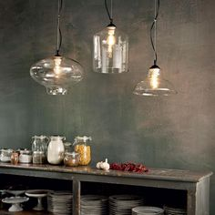 Svietidlo s dymovým skleneným tienidlom BISTRO' SP1 SQUARE   Ideal Lux Dar Lighting, Pendant Lighting, Pendant Lamps, Townhouse Interior, Lustre Design, Deco Addict, Lighting Concepts, Bistro, Suspension Design