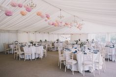 A summer marquee wedding should definitely come with air cons, if not, the least fans!