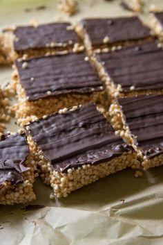 Süß salzig und kalorienarm - Quinoa Bars mit Amaranth und Erdnussbutter