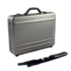 Brancas Aluminum Laptop/Notebook Computer Attache Case - Dark Iron