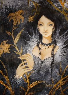 Gold lily by *Maevachan on deviantART