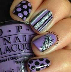 Easy nail designs. Use with any colors.