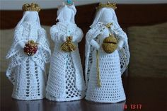 Los reyes magos en Crochet