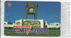 Oman:spcecial telephone card Comex 2001 mint- al-sahwah clock tower-1000 copies