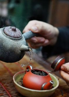 The art of preparing Chinese Tea.