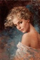 Curly Blonde oil on canvas Size 7,8 x 11,7 inch For info and price mail to : info@brunodimaio.it
