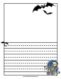 writing paper halloween haunted house check out our website classicteacherworksheetscom for check haunted house
