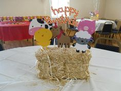 Barnyard/Farm Birthday Centerpiece Set of 6 With by PoppopsPeanut, $11.50