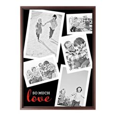 So Much Love Collage Canvas Print, Brown, Single piece, 10 x 14 inches, Black