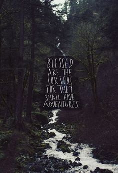 Blessed are the curious for they shall have adventures. : Blessed are the curious for they shall have adventures. : The post Blessed are the curious for they shall have adventures. : appeared first on Pink Unicorn. Adventure Campers, Adventure Awaits, Gs 1200 Adventure, Adventure Travel, Adventure Tattoo, Adventure Couple, Word Adventure, Adventure Nursery, Adventure Tours