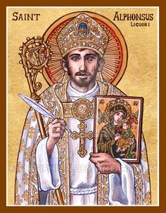 Alphonsus Liguori icon by Theophilia on DeviantArt Catholic Religion, Catholic Art, Catholic Saints, Roman Catholic, Patron Saints, Religious Images, Religious Icons, Religious Art, Dynamic Catholic
