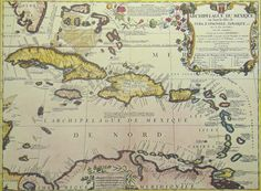 Antique Reproduction of the West Indies in 1688 Map $12.95