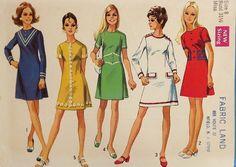Resultado de imagen para vestidos año 60