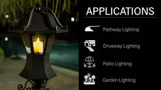 Standing tall, this estate-size coach light has a patented design with surprising features. There is no other luminaire like this on the market. Coach Lights, Pathway Lighting, Outdoor Landscaping, Led Lamp, Traditional Design, Patio, Terrace, Porch