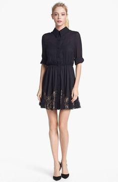 Alice + Olivia 'Raquel' Silk Shirtdress   Nordstrom $495