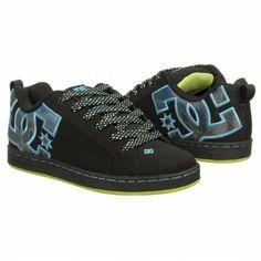 da7b621dc9 Athletics DC Shoes Women s Court Graffik SE Black Turquoise Soft  FamousFootwear.com