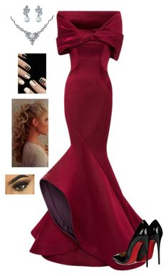 """""""Untitled #539"""" by sunnywinterday on Polyvore featuring Zac Posen, Christian Louboutin and Bling Jewelry"""