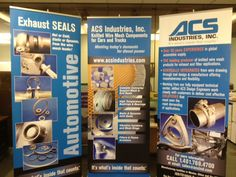 A recent banner stand project for ACS