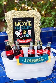 Simple & Creative Outdoor Movie Night Ideas {+ Free Party Printables}