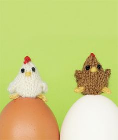 Craft Project: Tiny Knit Chickens