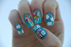 Art Uncommonplace: Disney Nail Art disney-nails-yes-i-m-a-disneydork Love Nails, How To Do Nails, Pretty Nails, Fun Nails, Happy Nails, Grow Nails, Sexy Nails, Nail Art Disney, Disney Pixar