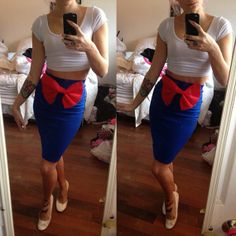 Pin up Sailor Moon Wiggle Skirt by BettyBonesCo on Etsy, $40.00