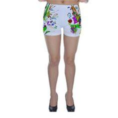 Splatter Life Skinny Shorts by sjart Skinny Shorts, Design, Life, Fashion, Moda, Fashion Styles, Fashion Illustrations
