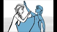 Frozen 'Do you want to build a snowman' reprise storyboard Why wasn't this in the movie??