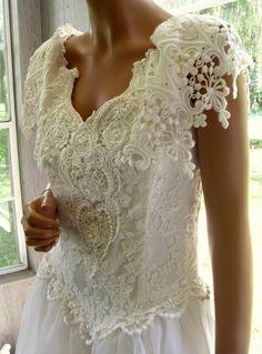 29fb028c06 Vintage Gunne Sax Jessica McClintock Bridal Gown Wedding Dress in Classic  Ballroom Style
