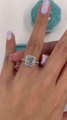 Cushion Cut Engagement Ring, Princess Cut Engagement Rings, Beautiful Engagement Rings, Diamond Engagement Rings, Tiffany Engagement, Diamond Wedding Bands, Beautiful Wedding Rings, Dream Wedding, Dream Ring