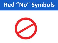 """""""NO"""" Symbols This download includes 3 pages of symbols used to visually represent """"no"""", """"not available"""", """"finished"""". They can be printed, cut-out and overlayed onto various other images - pinned by @PediaStaff – Please Visit ht.ly/63sNtfor all our pediatric therapy pins"""