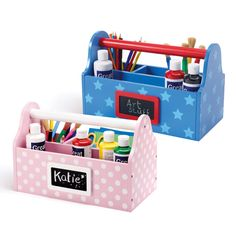 arts & crafts carry caddy.. love the polka dots..