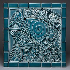 Bluebird of Big Happiness and Little Houses: Lynne Meade: Ceramic Wall Art - Artful Home - #CAPCA