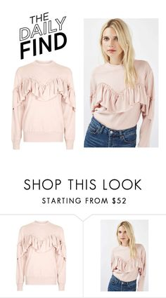 """The Daily Find: Topshop Sweatshirt"" by polyvore-editorial ❤ liked on Polyvore featuring Topshop and DailyFind"